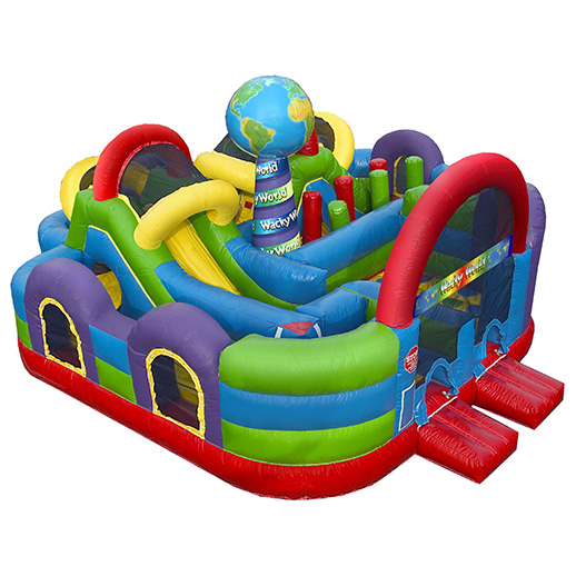 wacky world combo inflatable party moonwalk rental michigan
